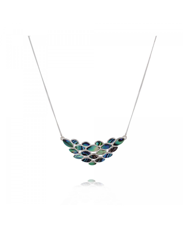925 Sterlingsilber Perlmutt Abalone Halskette