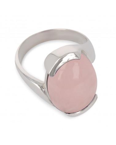 Geschenkidee Mom-Feine Steine-Ring-rosa Quarz-Sterling Silber-Frau