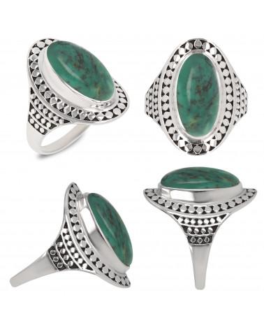 Geschenkidee Mom-Ring-Türkis Stone-Sterling Silber-Frau-