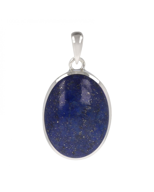 925 Sterlingsilber Lapis Lazuli Ovale Form Anhänger