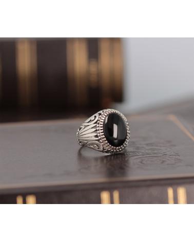 Geschenkidee Mom-Ring - Amethyst Stein-Sterling Silber-Frau-Lila-Ring Blume