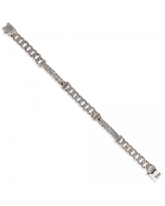 925 Sterling Silber Biker Armband