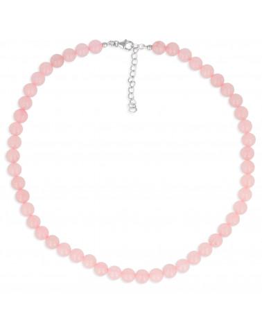 Bracciale elastico donna in oro rosa quarzo rosa
