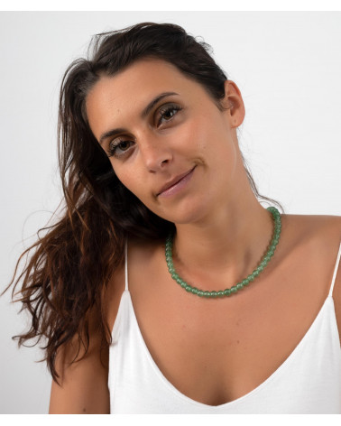 Aventurin-Steingrünsteine der Frau Halskette