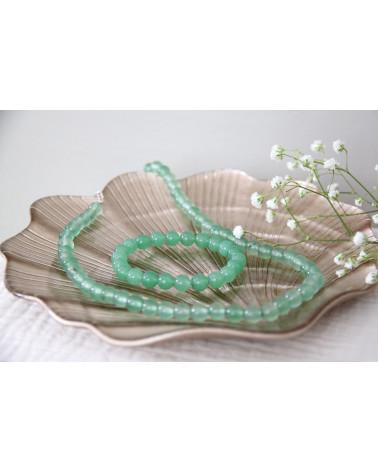 Aventurin-Steingrünsteine der Frau elastisches Armband