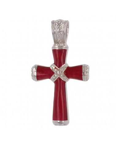 Idea de regalo Joyas Colgante Madre de perla Abalone Forma de cruz de plata esterlina Mujer Hombre