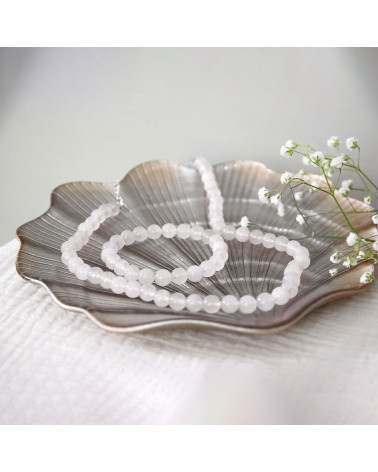 Orignale Geschenk Rosa Quartz Halskette Damen