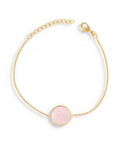 Valentinstag Geschenk Frau Armband Riviere Manschette Multirang vergoldet und Runde CZ Set 4 Krallen 17cm