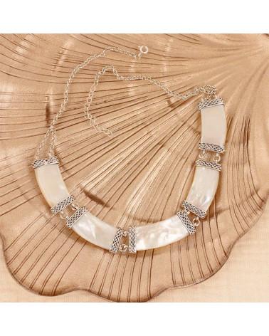 Gioielli regalo 3 cabochon Orecchini pendenti Nacre Argento sterling bianco ovale in argento massiccio