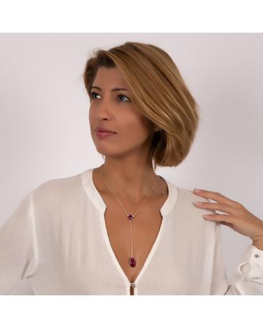 Regalo per donna Collana di moda placcato oro triangolo rovesciato stilizzato