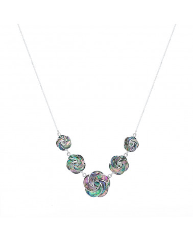 Collar Madre perla Abalone Plata de Ley 925