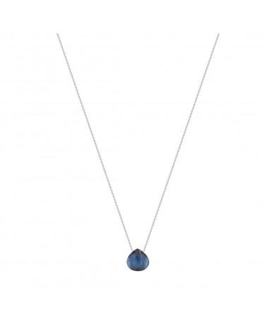 925 Sterlingsilber Facettierte Labradorite Halskette