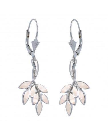 925 Sterlingsilber Koralle Blumen Ohrringe