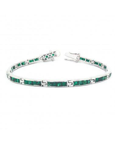 925 Sterlingsilber Smaragd Armbund