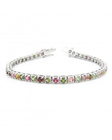 925 Sterling Silver Tourmaline Bracelet