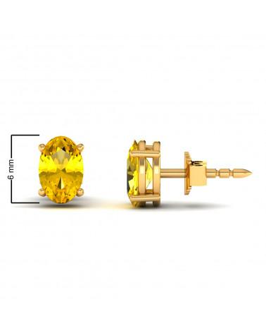 Pendientes de Oro 14K Citrino