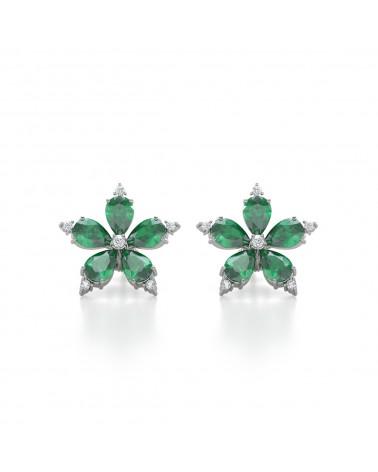 Orecchini in Oro Smeraldo Diamanti