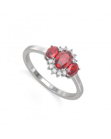 Anelli Rubino diamanti Argento 925