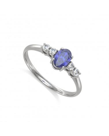 Anelli Tanzanite diamanti Argento 925