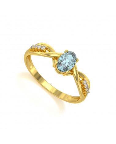 Gold Smaragd Diamanten Ringe 1.32grs