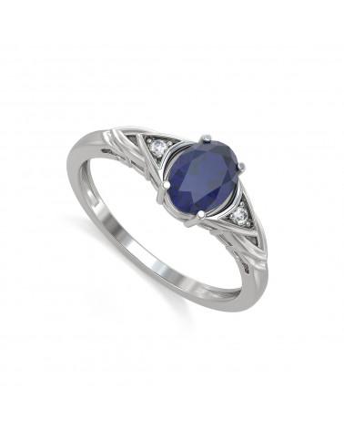 Anelli Zaffiro diamanti Argento 925