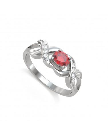 Anelli Rubino diamanti Argento 925 ADEN - 1