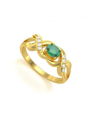 Anelli Oro Smeraldo diamanti 2.684grs ADEN - 1