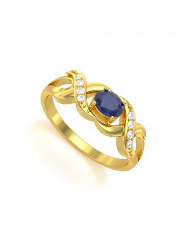 Anelli Oro Zaffiro diamanti 2.684grs ADEN - 1