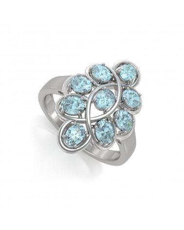 Anelli Oro Smeraldo diamanti 1.32grs ADEN - 1