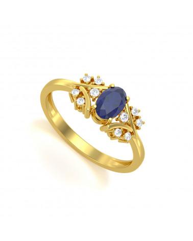 Anelli Oro Zaffiro diamanti ADEN - 1