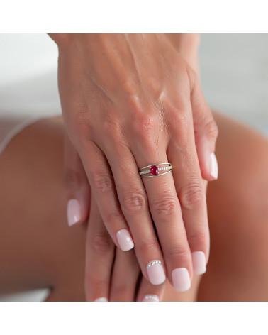 Anelli Rubino diamanti Argento 925 ADEN - 4