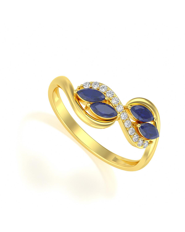 Anelli Oro Zaffiro diamanti 1.546grs