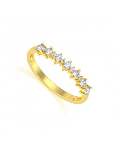 Gold Diamonds Ring ADEN - 1