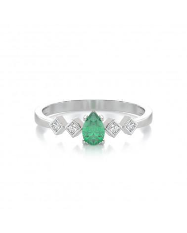 Anelli Oro Smeraldo diamanti 1.296grs ADEN - 3