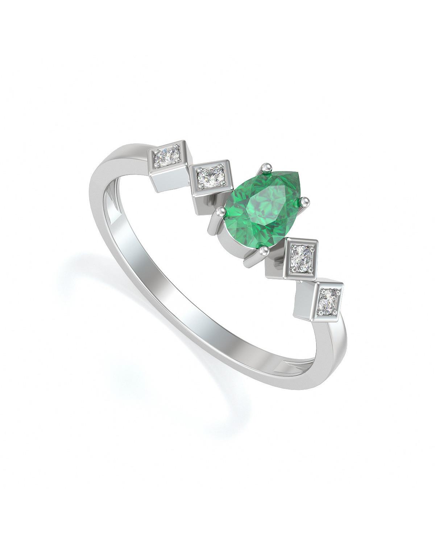 Anelli Oro Smeraldo diamanti 1.296grs