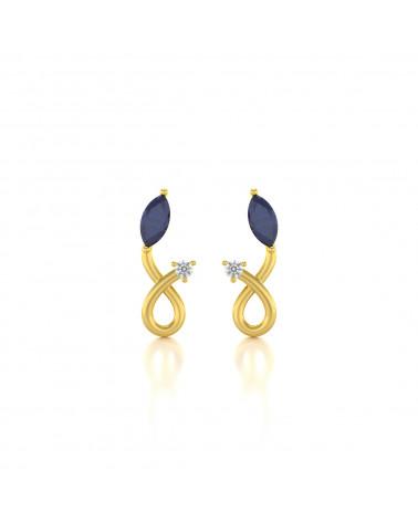 Gold Saphir Diamanten Ohrringe ADEN - 1