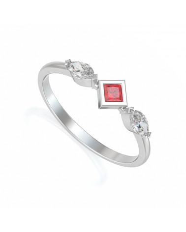Anelli Oro Rubino diamanti ADEN - 1