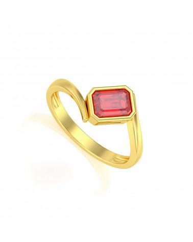 Anelli Oro Rubino ADEN - 1