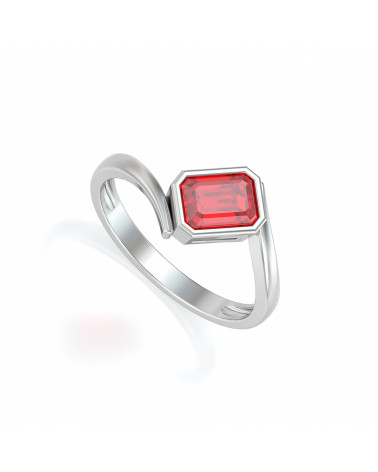 925 Silver Ruby Ring ADEN - 1