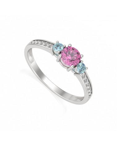 Anelli Oro Tourmaline diamanti ADEN - 1
