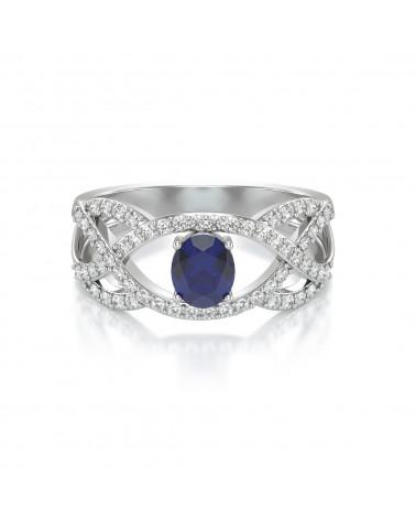Anelli Oro Zaffiro diamanti ADEN - 3