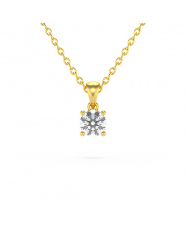 Collar Colgante de Oro 14K Aguamarina Cadena Oro incluida ADEN - 1