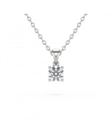 Collar Colgante de Oro 14K Diamante Cadena Oro incluida ADEN - 1