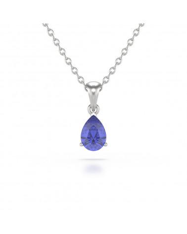 925 Silver Tanzanite Necklace Pendant Chain included ADEN - 1