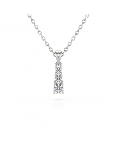 14K Gold Diamond Necklace Pendant Gold Chain included ADEN - 1